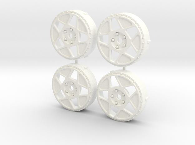 MST / Fifteen52 Tarmac R43 Insert (x4) in White Processed Versatile Plastic