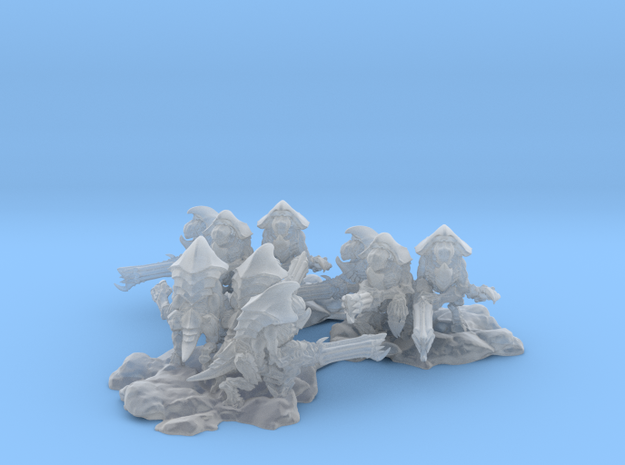 Alien Bug Sentry 3 Bases with 3 unit per base in Smooth Fine Detail Plastic