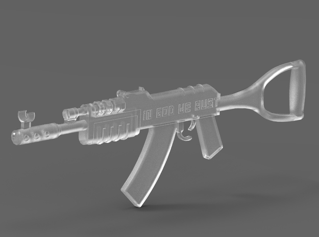 Rust's Assault Rifle Figurine in Smooth Fine Detail Plastic