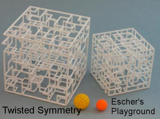 Twisted Symmetry 3d printed new bigger size