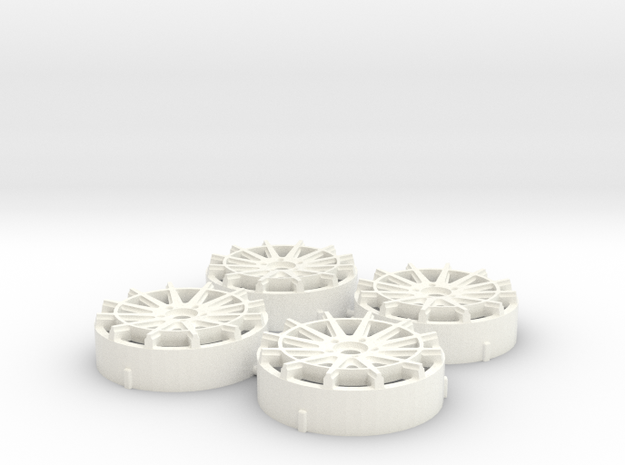 MST / K3 Projekt IND-R11 Insert (x4) in White Processed Versatile Plastic