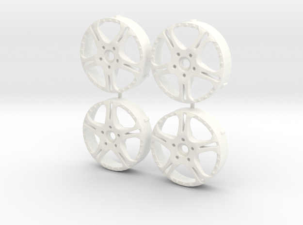 MST / Weds Kranze Cerberus Insert (x4) in White Processed Versatile Plastic