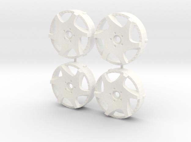 MST / Weds Kranze Bazreia Insert (x4) in White Processed Versatile Plastic