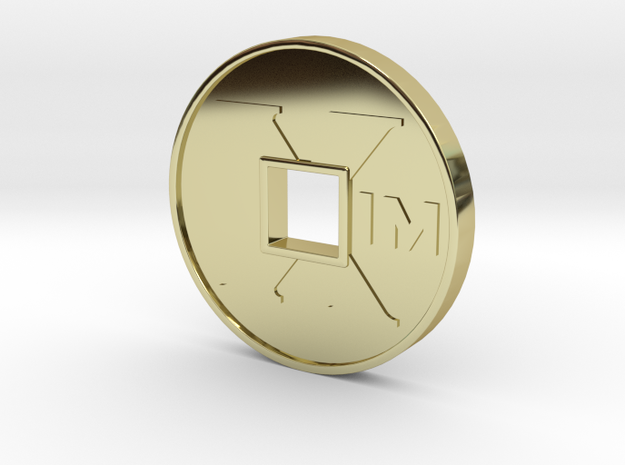 XIM Coin in 18k Gold Plated