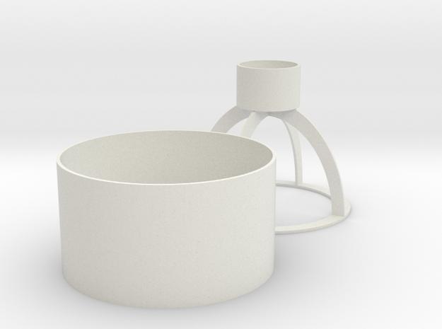 Filter Receptacle & Holder in White Natural Versatile Plastic