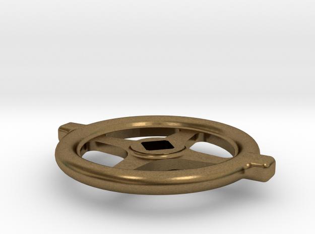 "1.5"" scale SAR Large Handwheel in Natural Bronze"