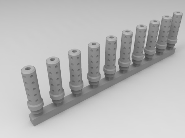 Bolt Rifle Suppressors Dimple v1 x10 in Smoothest Fine Detail Plastic