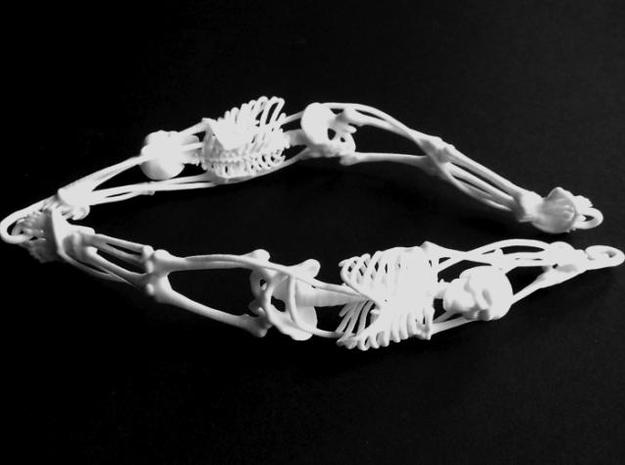 Skeleton Necklace 3d printed Photo of 2 links
