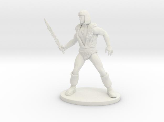 Thundarr the Barbarian Miniature in White Natural Versatile Plastic: 1:60.96