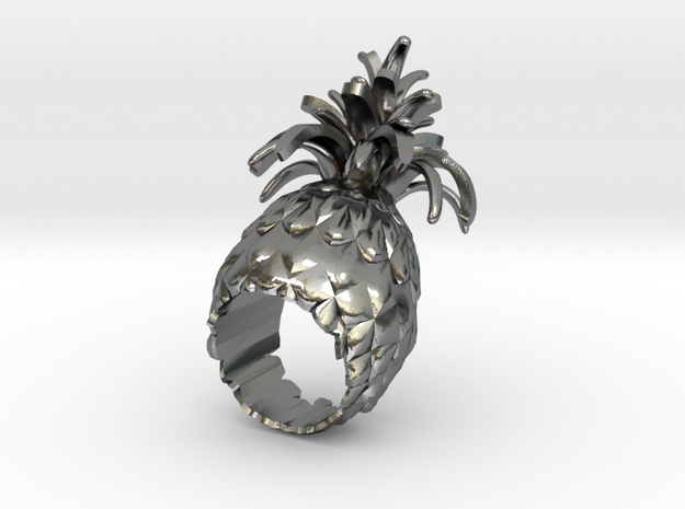 pineapple STAN in Polished Silver: 8 / 56.75