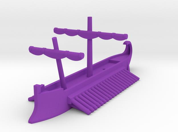 1/1200 Carthaginian Quadrireme Game Pieces in Purple Processed Versatile Plastic: Extra Small