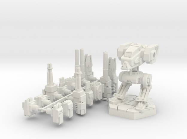 Light Mech type1+Weaponset in White Natural Versatile Plastic