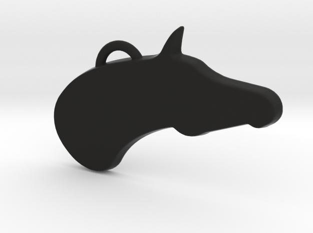 Arabian Horse in Black Natural Versatile Plastic