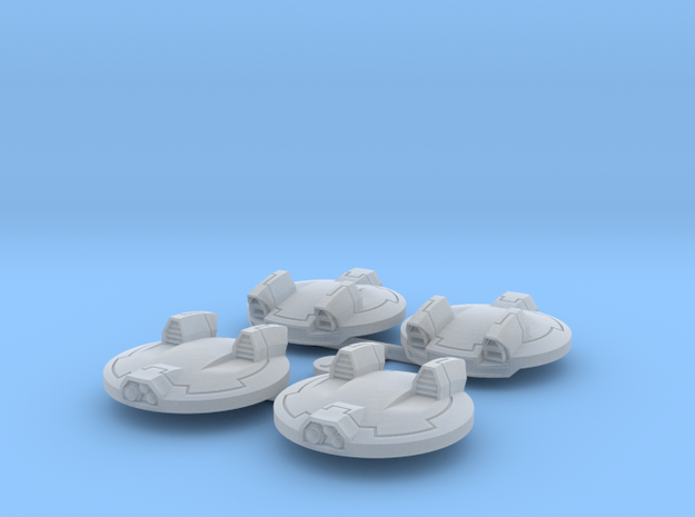 Aerial Robots, Set of 4 in Smooth Fine Detail Plastic