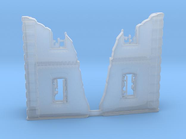 Ruined skyscraper corners in Smooth Fine Detail Plastic