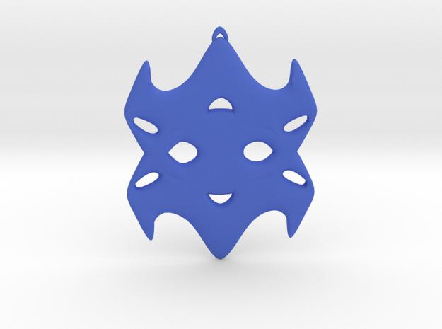 Father in Blue Processed Versatile Plastic