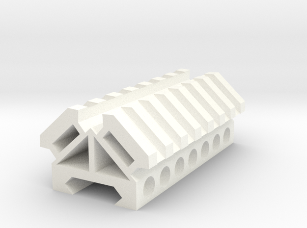 Picatinny rail splitter to 2 - 7 slot triangle