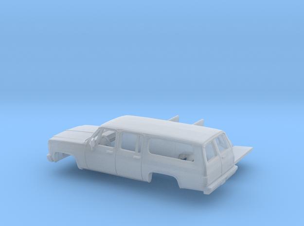 1/160 1973-79 GMC Suburban Split Rear Door  Kit in Smooth Fine Detail Plastic