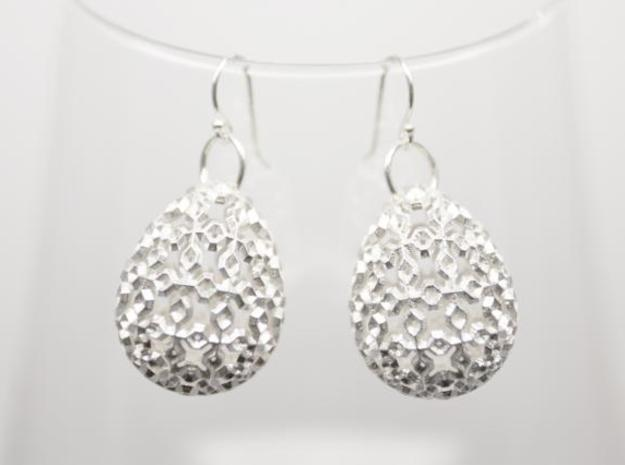 Jacopo Earrings - Silver  3d printed