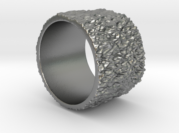 Mesh042 Ring in Natural Silver