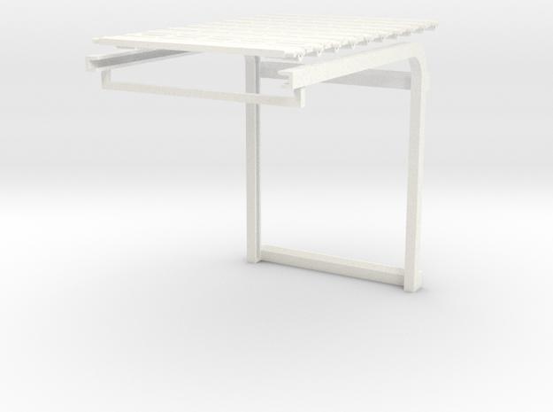 1/64 Overhead Door 14' W x 18.5' H (2_625w x 3_5h) in White Processed Versatile Plastic