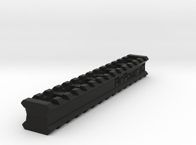 Back-to-Back 14-Slots Picatinny Rails Adapter in Black Natural Versatile Plastic