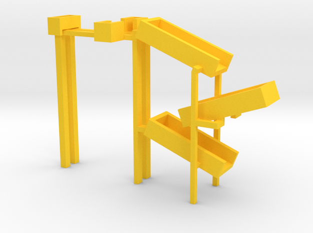 Lower part of the toy slides in Yellow Processed Versatile Plastic