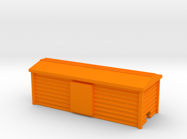 Corrugated Boxcar in Orange Processed Versatile Plastic
