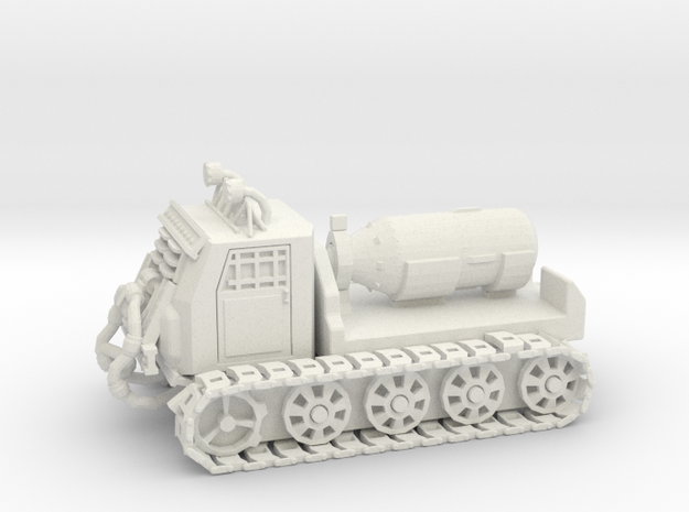 Nuke Carrier - Variation A  in White Natural Versatile Plastic