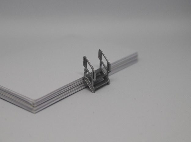 HO 3x Stairs #3 in Smooth Fine Detail Plastic