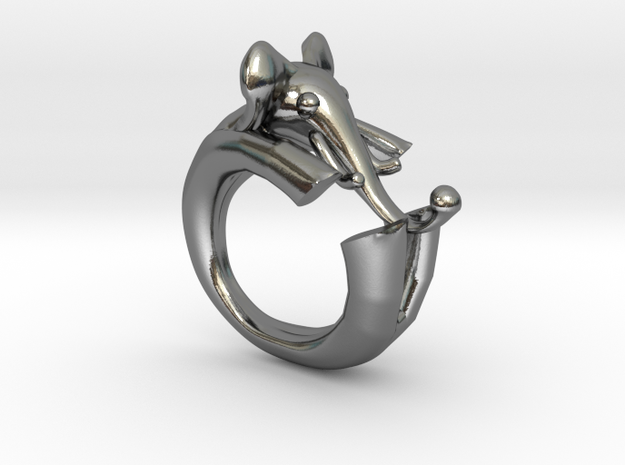 ELEPHANT ring in Polished Silver: 7 / 54