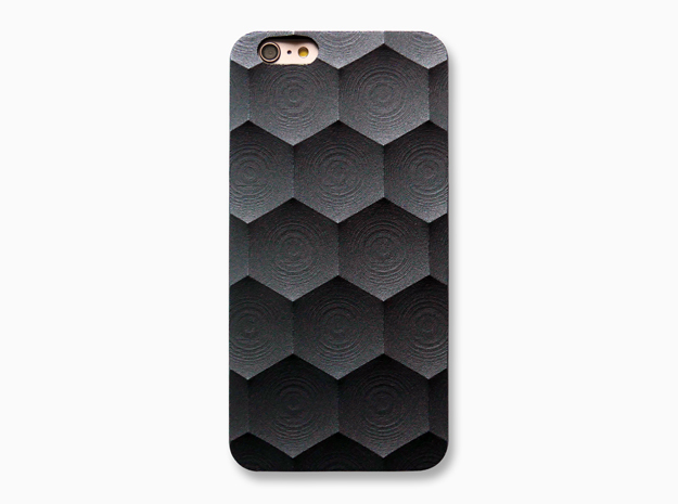 iPhone 6 / 6S Plus Case_Hexagon in Black Natural Versatile Plastic