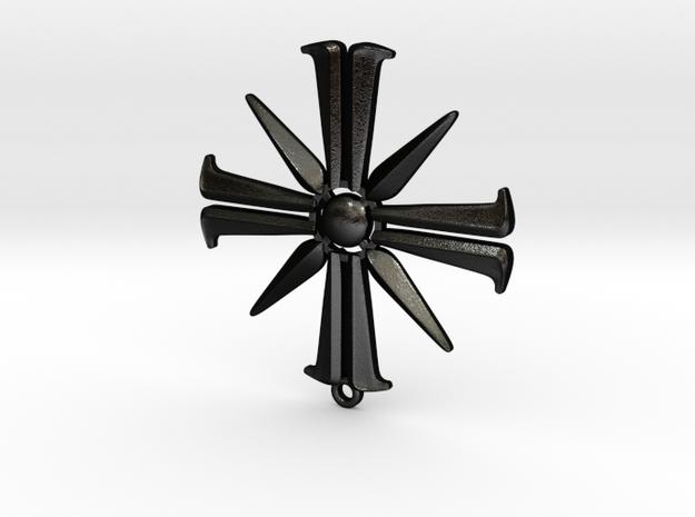 Far cry 5 eden's gate pendant thicker metal  in Matte Black Steel