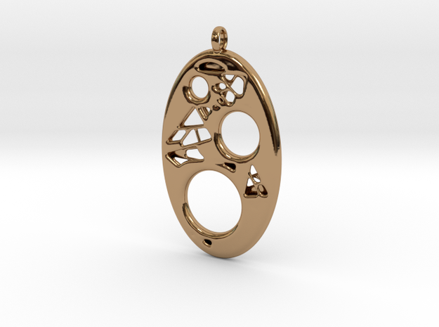 Oval Pendant 2 in Polished Brass