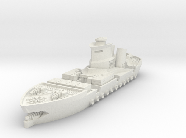 Rostock Class Armoured Supply Carrier in White Natural Versatile Plastic