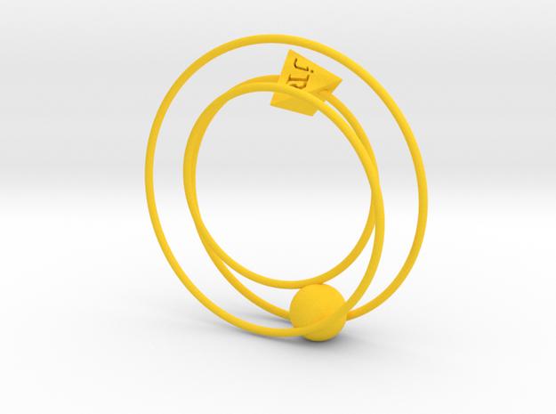 Phaeton Sculpture 1/4 Size in Yellow Processed Versatile Plastic