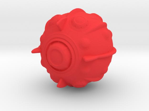 Kzin Warship in Red Processed Versatile Plastic