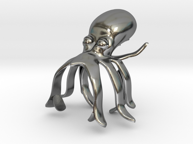 sharlas OCTOPUS in Polished Silver: 10 / 61.5