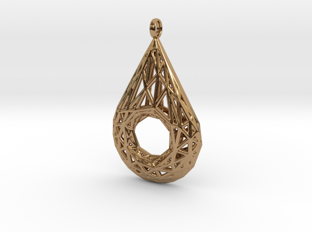 Drop Pendant 4 in Polished Brass
