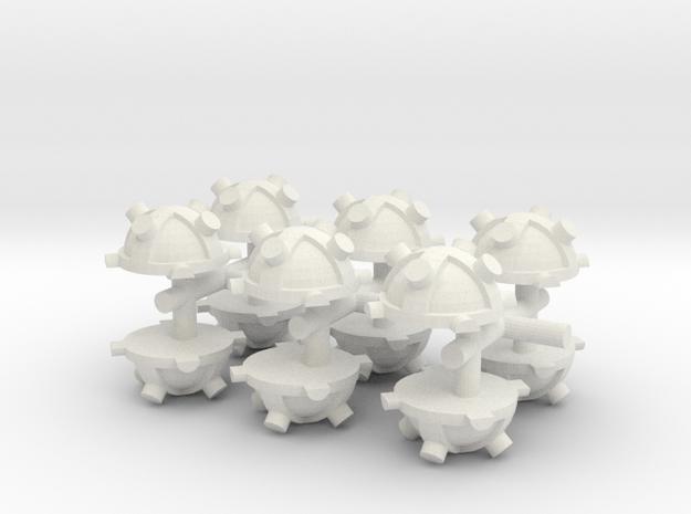 Magnectic Mine x 12  in White Natural Versatile Plastic