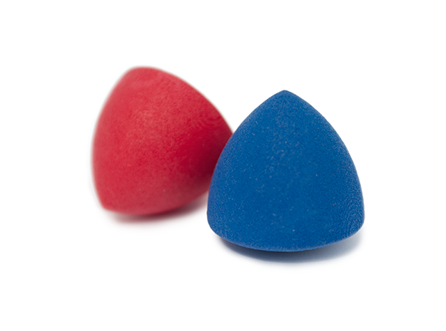Revolved Reuleaux Triangle in Blue Processed Versatile Plastic
