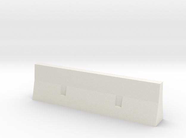 concrete barrier scale 1/87 in White Natural Versatile Plastic