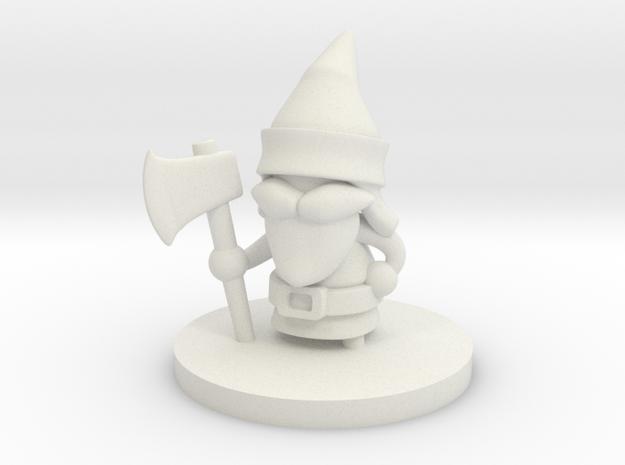 Gnome Forester in White Natural Versatile Plastic