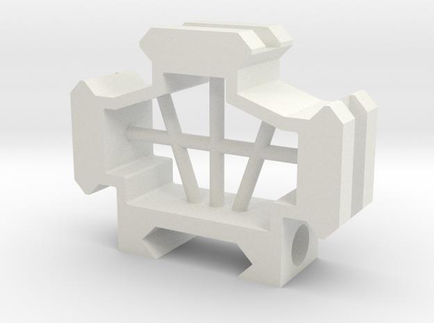 Picatinny rail splitter to 3 - 1 slot in White Natural Versatile Plastic