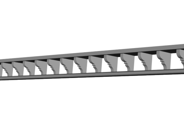 HO Wodonga Station Corbel Strip - 269mm long in Smooth Fine Detail Plastic