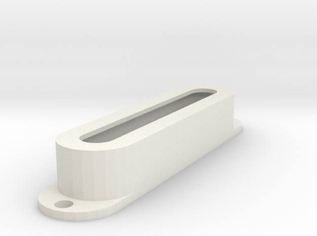 Strat PU Cover, Single, Open in White Premium Versatile Plastic