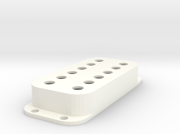 Strat PU Cover, Double, Classic in White Processed Versatile Plastic