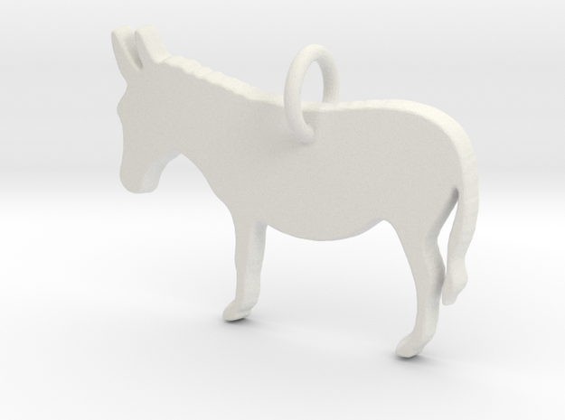 Donkey in White Natural Versatile Plastic