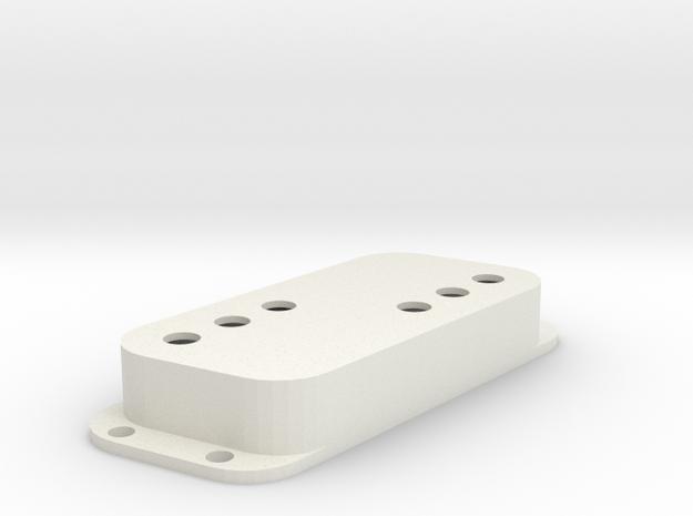 Strat PU Cover, Double, Angled, WR in White Premium Versatile Plastic