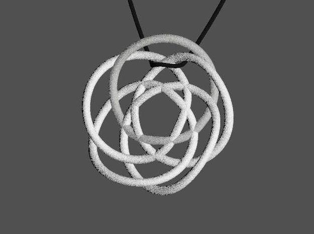 Olympic Rose Pendant 3d printed Quick render of model
